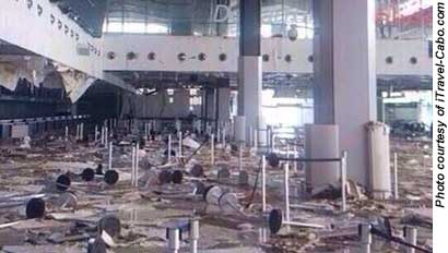 Los Cabos airport damage
