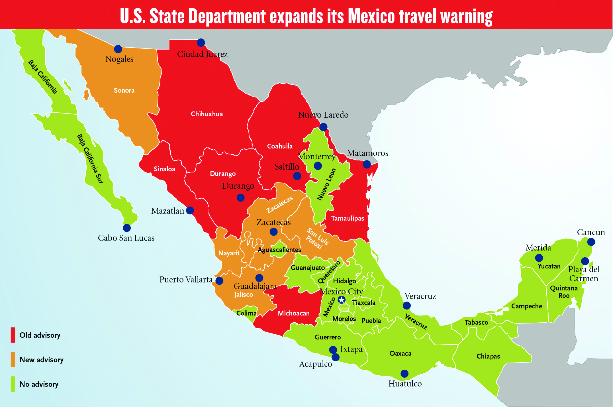 Travel Advisory For Mexico Canada