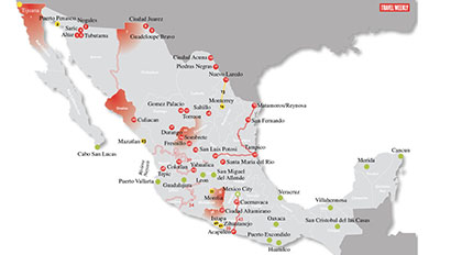 Mexico Travel Warning Mapped Travel Weekly