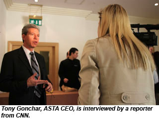 Tony Gonchar during CNN interview