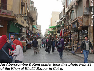 The Khan el-Khalili Bazaar in Cairo