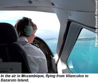 In the air in Mozambique