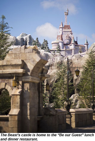Disney Beast Castle Be Our Guest