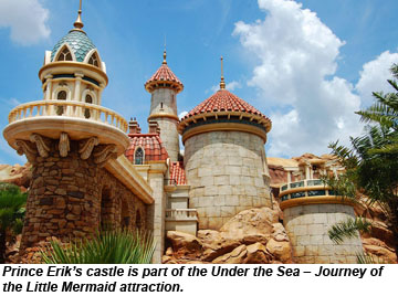 Disney Prince Erik castle Under The Sea