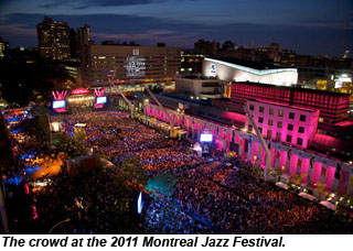 Montreal Jazz Festival 2011 crowd