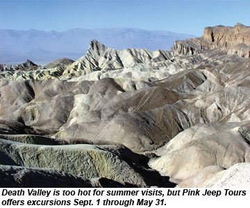 Pink Jeep Death Valley