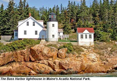 The Bass Harbor lighthousein Acadia National Park, Maine.