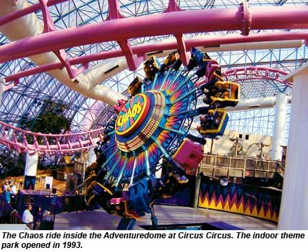 the chaos ride inside the adventuredome at circus circus - Adventuredome Halloween