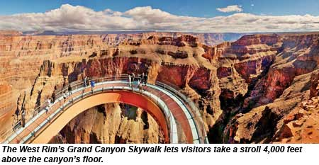 The Grand Canyon Skywalk Is 4 000 Feet Above Floor