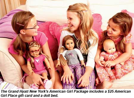 The Grand Hyatt New York offers an American Girl package.