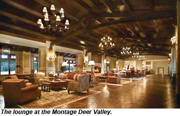 Montage Deer Valley lounge
