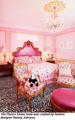 The Eloise Suite at the Plaza was created by fashion designer Betsey Johnson.