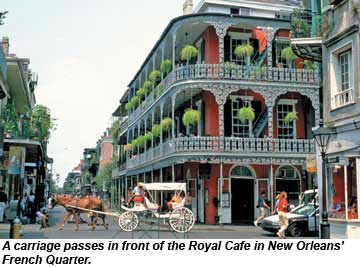 New Orleans French Quarter Carriage