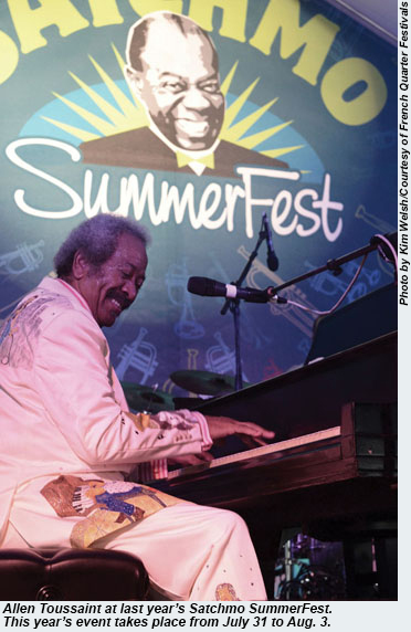 Allen Toussaint at the 2013 Satchmo SummerFest.