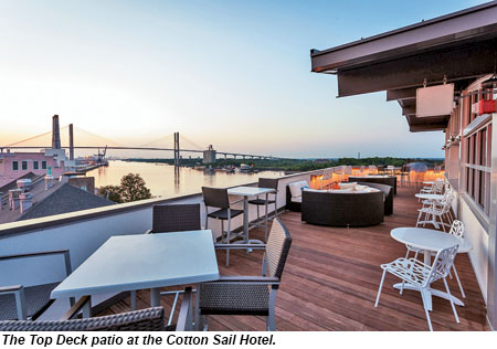 Cotton Sail Hotel Top Deck Patio