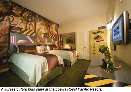 Juric Park Kids Suite At Loews Royal Pacific Resort
