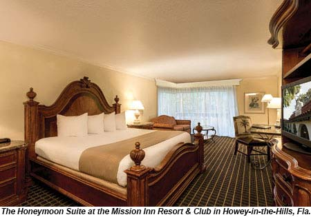 The Honeymoon Suite at Mission Inn Resort.