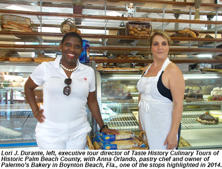 Taste of History Culinary Tours visits Palermos Bakery in Boynton Beach