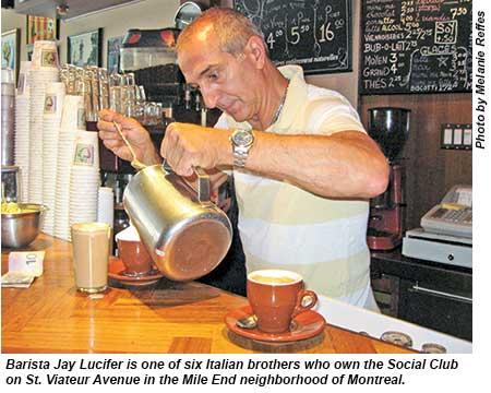 Montreal barista, Social Club