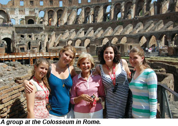 Group at the Colosseum