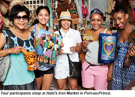 Haiti tour - shoppers