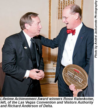 Lifetime Achievement Award winners Rossi Ralenkotter and Richard Anderson