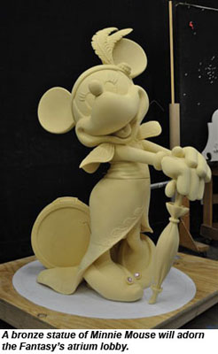 Minnie Mouse statue on the Disney Fantasy