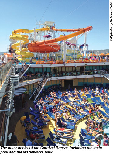 Diving In Learning The Ropes Aboard Carnival Breeze
