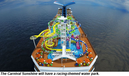 Carnival Sunshine To Feature Water Park With Racing Theme