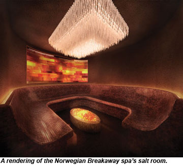Norwegian Breakaway spa salt room rendering