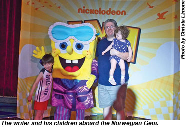 Norwegian Gem Alex, SpongeBob, Jerry, Josie