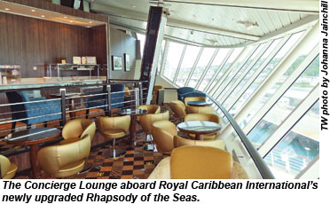 Rhapsody of the Seas Concierge Lounge
