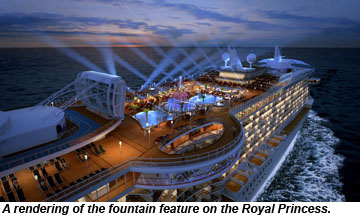 Royal Princess Pool Deck To Feature Fountain Show Travel