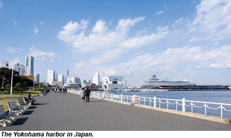 Yokohama Harbor Japan