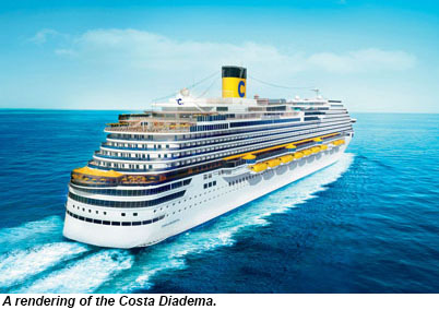 A rendering of the Costa Diadema.
