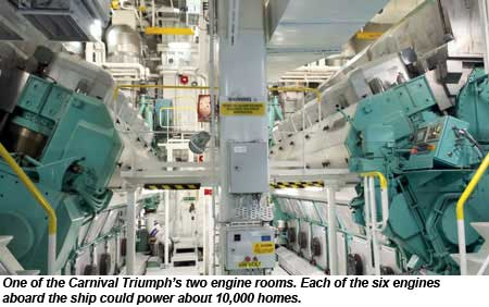 Carnival Cruise Ship Engines Detlandcom - Largest cruise ship engines