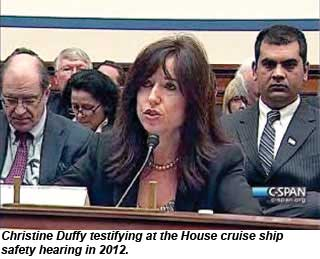 Christine Duffy testifying at a House hearing