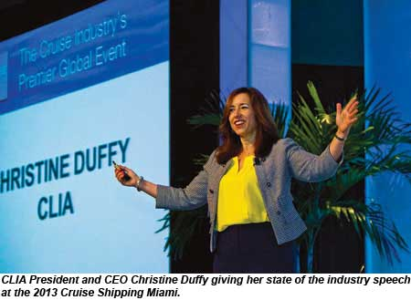 Christine Duffy at Cruise Shipping Miami