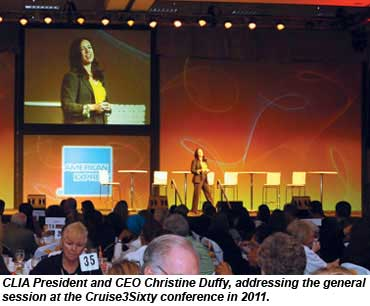 Christine Duffy at the Cruise3Sixty conference