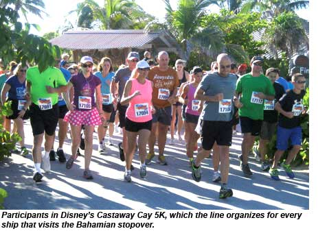 Participants in the Castaway Cay 5K.