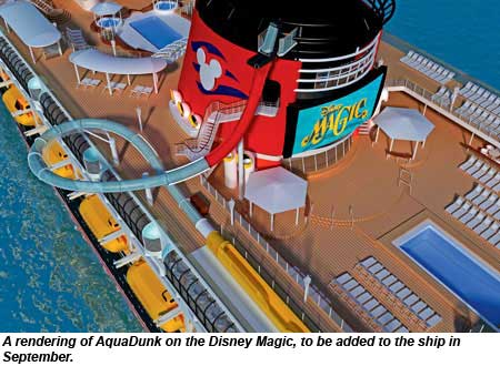 A rendering of AquaDunk on the Disney Magic.