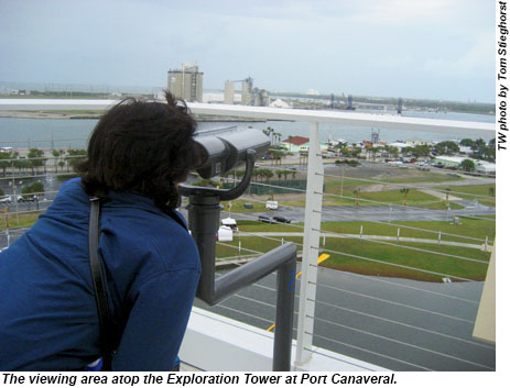 The viewing area atop the Exploration Tower at Port Canaveral.