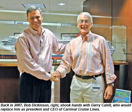 Gerry Cahill and Bob Dickinson in 2007.