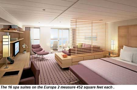 Hapag-Lloyd Europa 2 spa suite