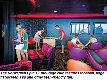 Norwegian Epic Entourage Club