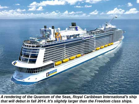 Royal Caribbean Quantum of the Seas rendering