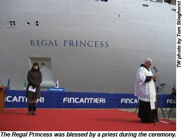 Regal Princess blessing
