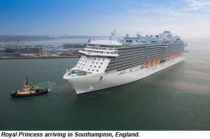 Royal Princess arrival in Southampton