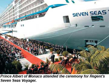 Seven Seas Voyager christening