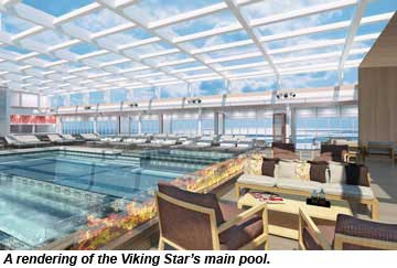 Viking Star Main Pool rendering
